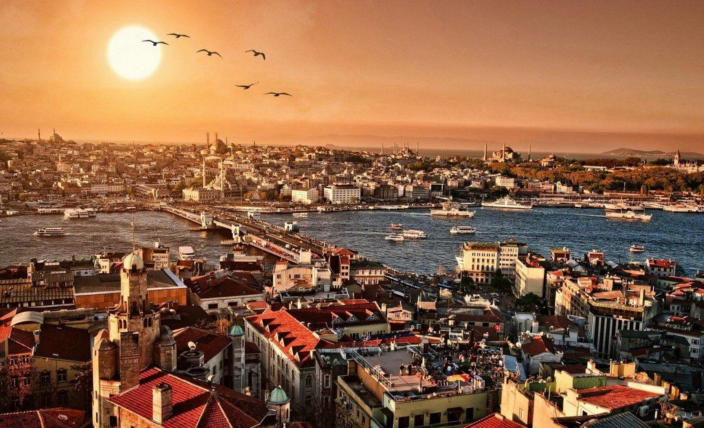 istanbulda günbatımı manzarası
