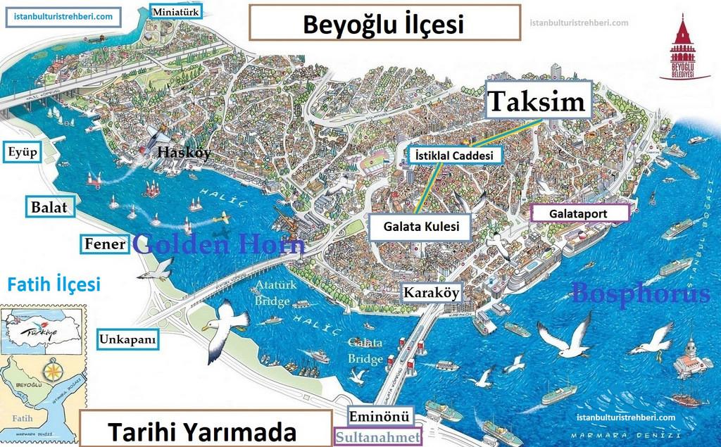 Beyoglu ve Tarihi Yarımada